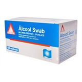 Alcool Swabs BioBase Isopropolico 70% C/ 100 Saches