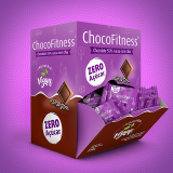 Chocolate 55% cacau com chia Chocofitness - Cx. 50x5g