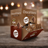 Chocolate 55% cacau puro Chocofitness - Cx. 50x5g