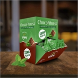 Chocolate 55% cacau com menta Chocofitness - Cx. 50x5g