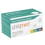 Alcool Swabs Uniqmed com 100 saches